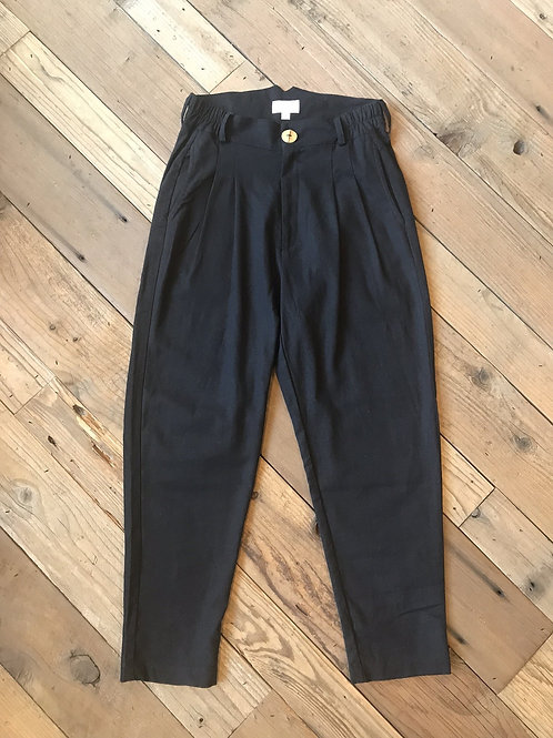 Field Day - The Perfect Pant 2.0 in Black Linen