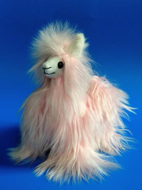 Inspired Peru - Suri Stuffed Pink Alpaca Small