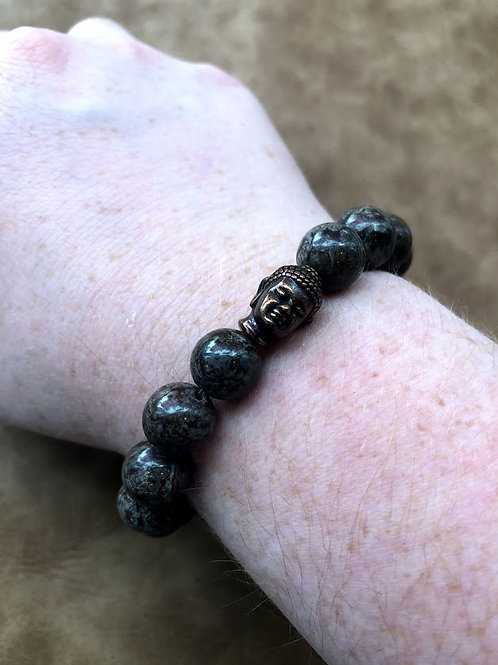 Local Maker - Brown Bead With Buddha Center