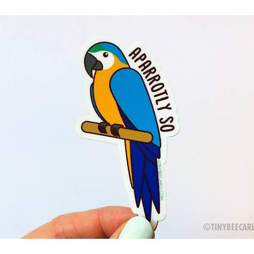 Tiny Bee - Parrot Vinyl Sticker