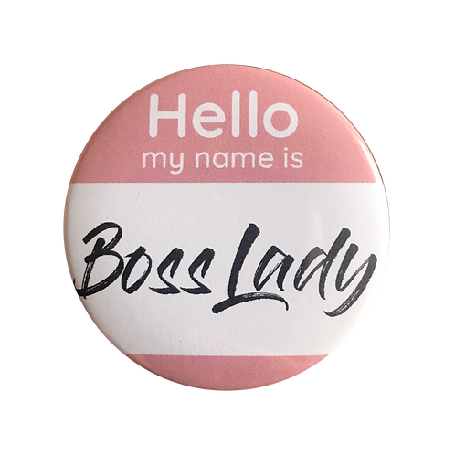 The Card Bureau - Boss Lady Button