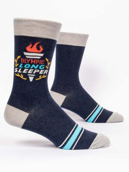 Blue Q - Olympic Sleeper Men's Crew Socks