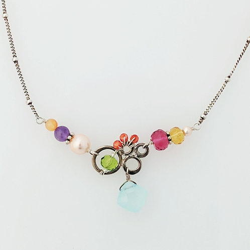Anna Balkan - Small Bubbles Gem Chalcedony Necklace