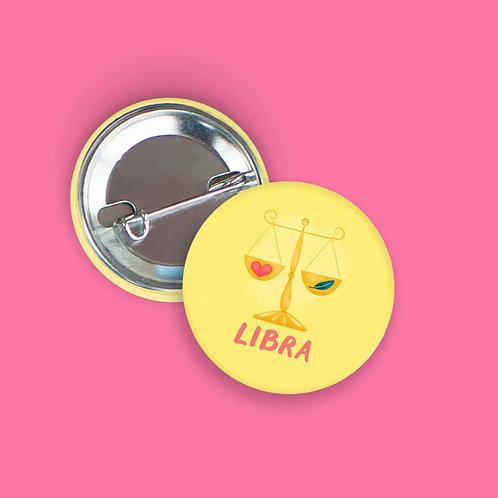 Nicole Marie Paperie - Libra Zodiac Button