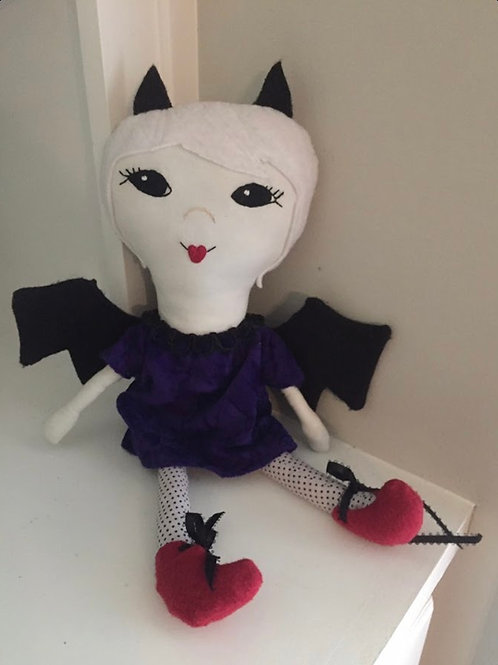 Odd Little Birdie - Fabric Vampire Doll