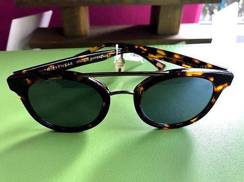 DIFF - Ivy Honey Tortoise Green Gradient Polarized Sunglasses