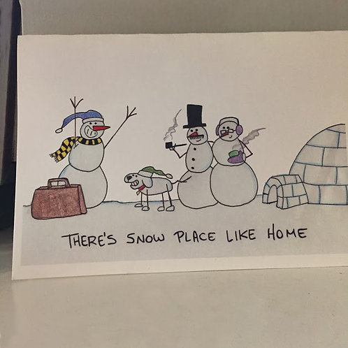 Zach Keepers - Snow Place Like Home Card