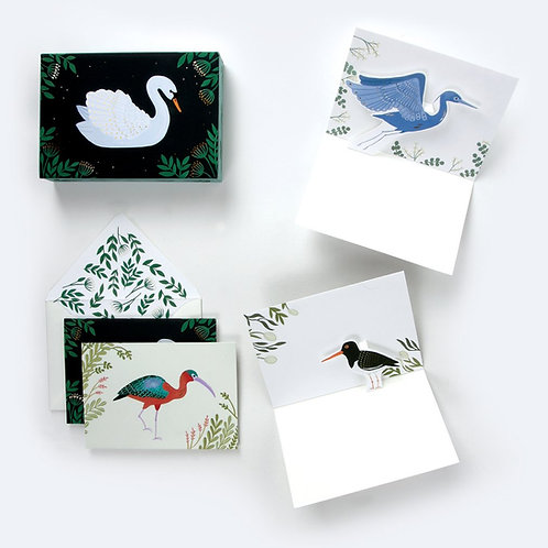 Up With Paper Luxe - Aquatic Birds Pop-Up Cards (Boxed Set of 8)