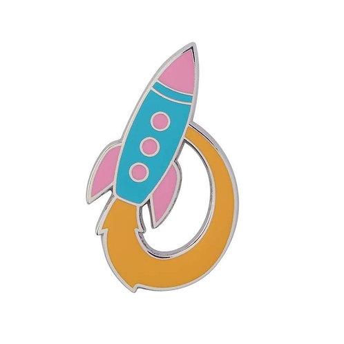 Erstwilder - Radical Rocket Ship Enamel Pin