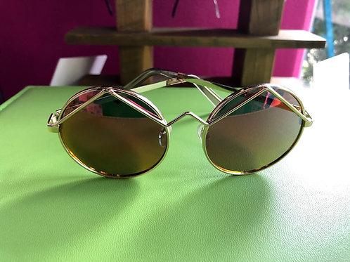 Le Specs -  Wildchild Pink Revo Mirror Sunglasses