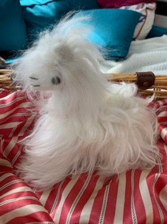 Inspired Peru - Suri Stuffed White Alpaca Small