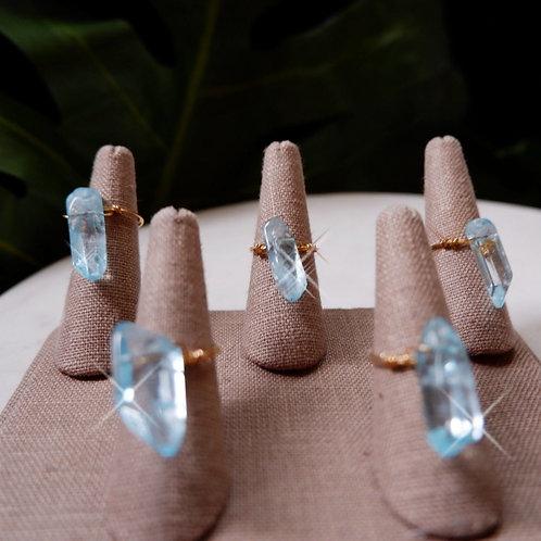Kalua Rae - Aqua Quartz Crystal Rings