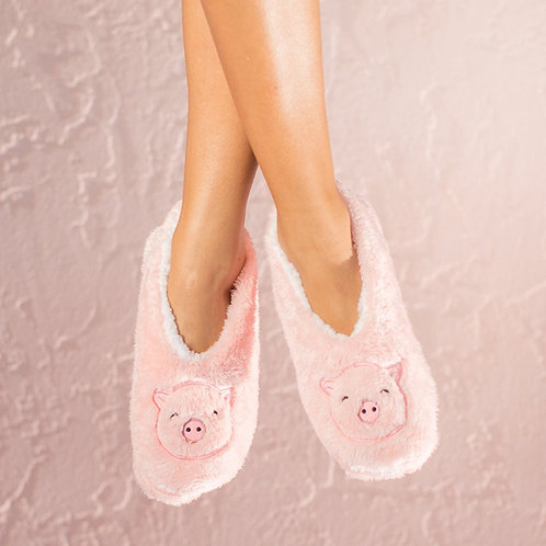 Faceplant Dreams - Pink Pig Slippers in Size XL