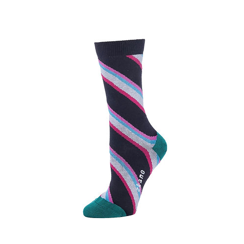 Zkano Socks - Black Hazel Women's Crew Socks