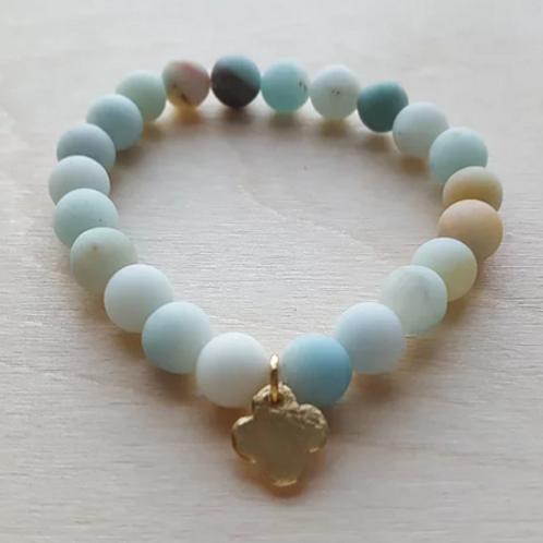 Agape Gems - Stacking Amazonite Bracelet