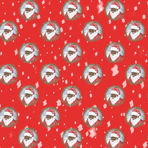 Kitsch Noir - Santa Wrapping Paper