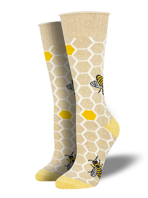 Socksmith - Recycled Cotton Gold Honey Bee Socks