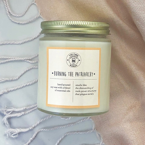 The Card Bureau - Burning the Patriarchy Soy Candle