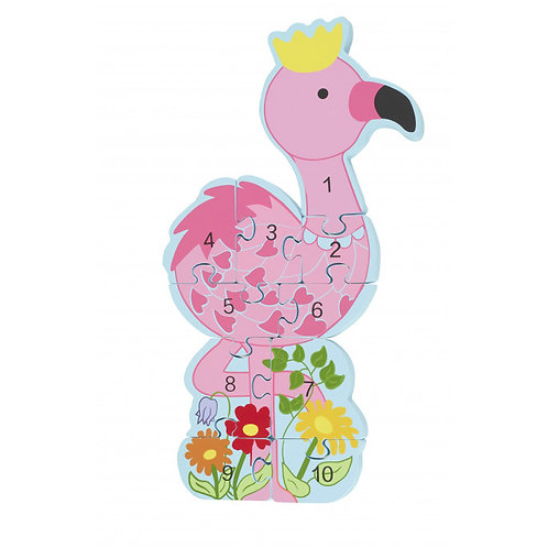 Orange Tree Toys - Flamingo Number Puzzle