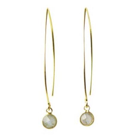 Sunday Girl Amy - Gemstone Dangle Earrings in Labradorite