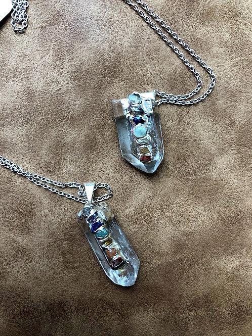 Kalua Rae - Silver Chakra Quartz Necklace