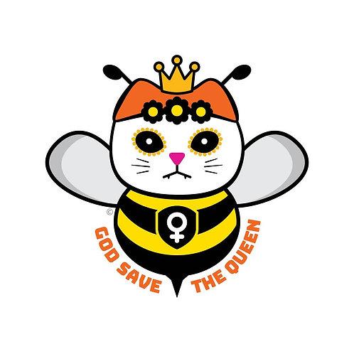 ReSISTA Kat - God Save the Queen Die-Cut Sticker