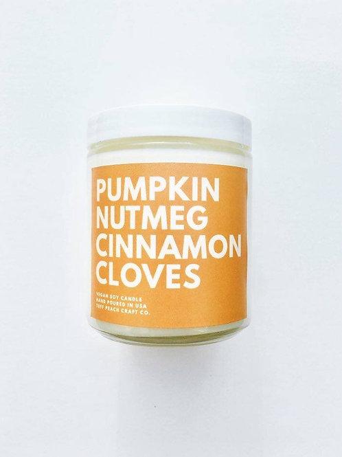Tuff Peach Craft Co - Pumpkin Nutmeg Cinnamon Cloves Candle