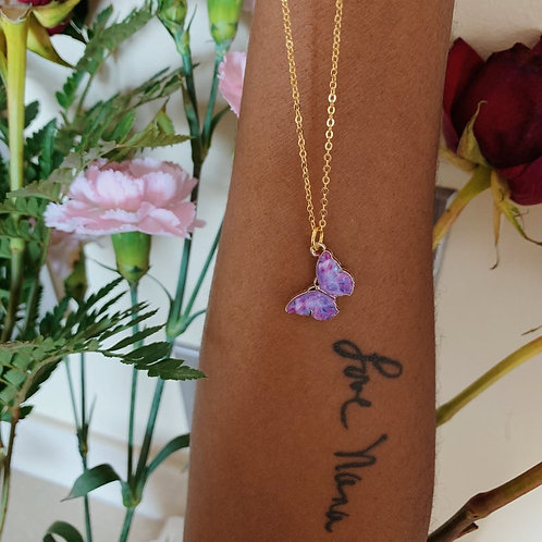 LoveNanaCo - Butterfly Gold Charm Necklace