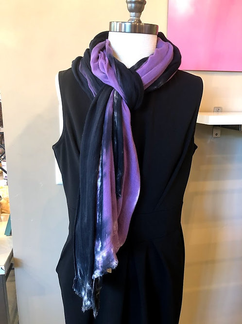 River + Sky - Black and Purple Scarf
