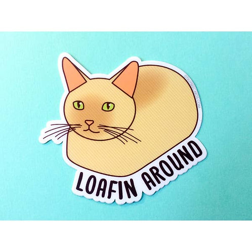Tiny Bee - Cat Loaf Loafin Around Vinyl Sticker