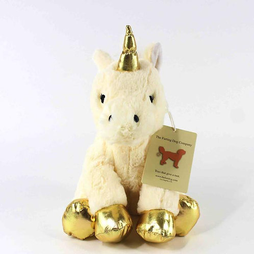 The Farting Dog Co - Fiona The Tooting Unicorn Plush Toy