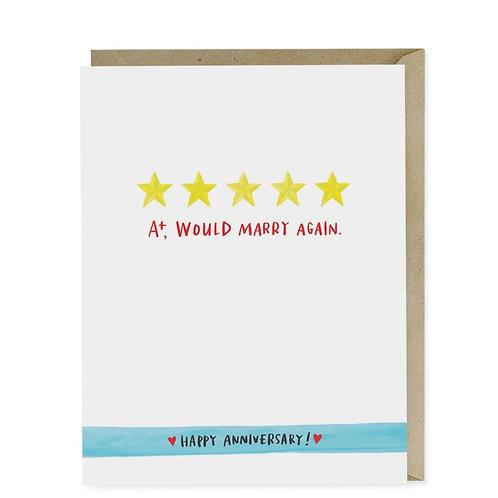 Em & Friends - A+,Would Marry Again Card