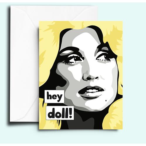 Fem Cards - Dolly Parton Hey Doll Card