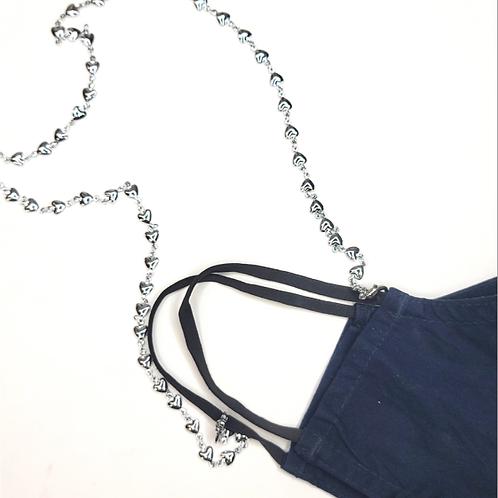 Rachel Eva - Silver Hearts Mask Chain Necklace