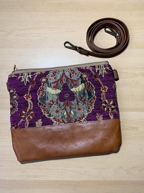 Little West Belles - Purple Patterned Convertible Clutch/Crossbody