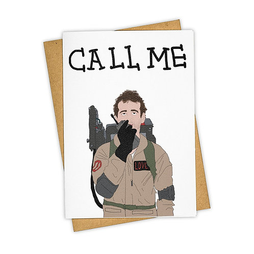 Tay Ham - Call Me Ghostbusters Card