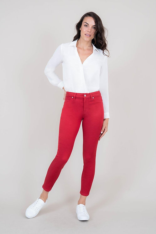 Level 99 - Discount Damaged Cherry Red Madison Midrise Skinny Size 27