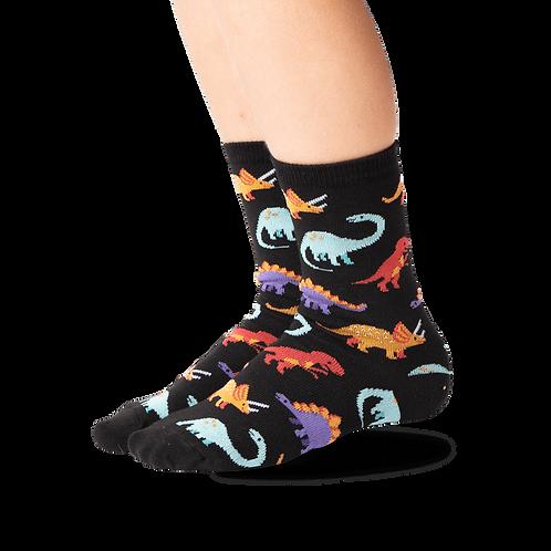 Hotsox - Black Dinosaurs Kid's Socks