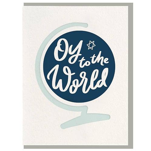 Dahlia Press - Oy To The World Card