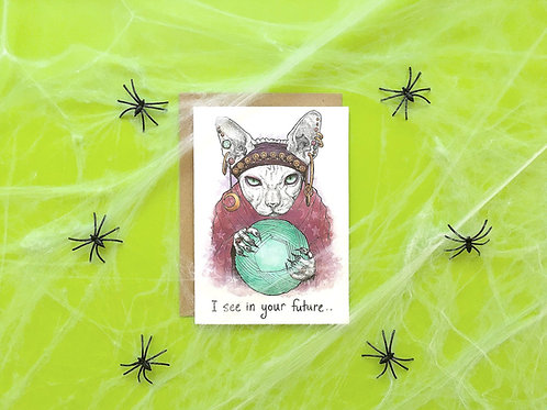 Shop Aberleigh - Fortune Teller Cat Card