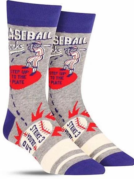 Blue Q - Baseball Men's Crew Socks