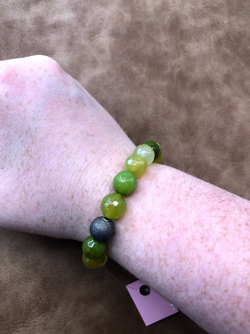 Ali & Bird - Green Bead Bracelet