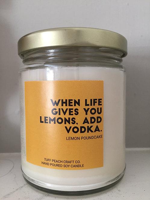 """Tuff Peach Co. - """"When Life Gives You Lemons"""" Lemon Poundcake Candle"""