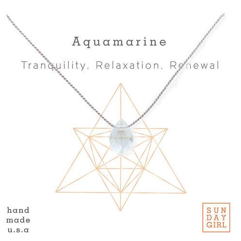Sunday Girl Amy - Aquamarine Intention Necklace