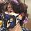 Thumbnail: Rachel Eva - Blue Bead Mask Chain Necklace