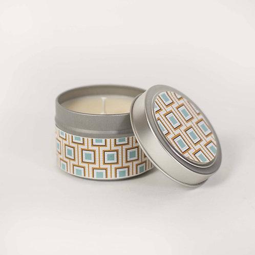 Mod Lounge Paper - Square Design 4oz Sandalwood Candle