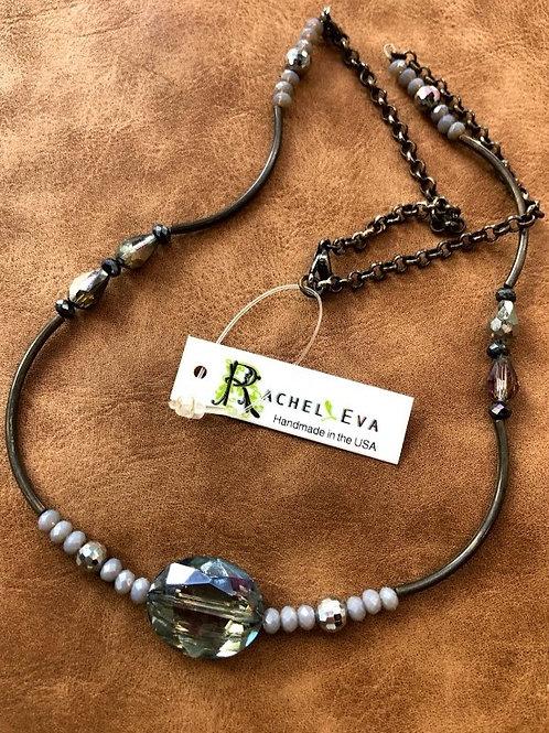 Rachel Eva - Blue Beaded Necklace