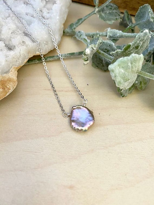 The Girl With The Pearl - Lavender Keshi Pearl Necklace