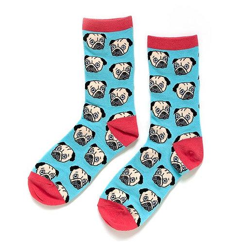 Smarty Pants - Pug Socks Ladies Crew