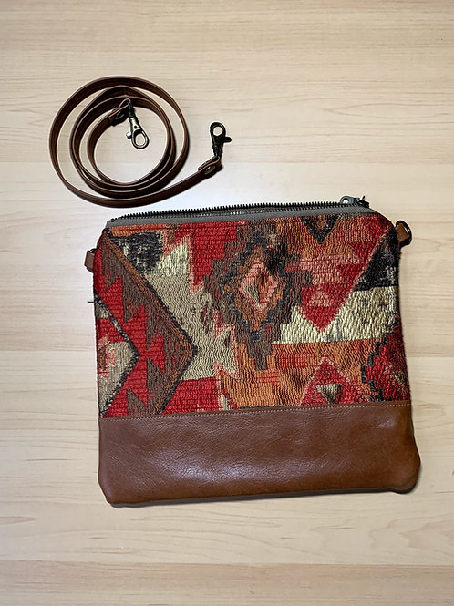 Little West Belles - Red Patterned Convertible Clutch/Crossbody